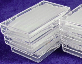 plastic boxes with wax