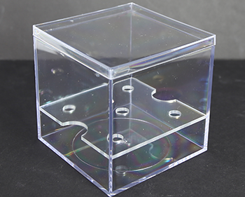 plastic box with stem inserts