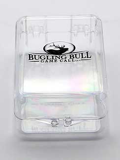 plastic box for hunting call imprinted