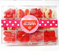 valentines day gift in plastic box