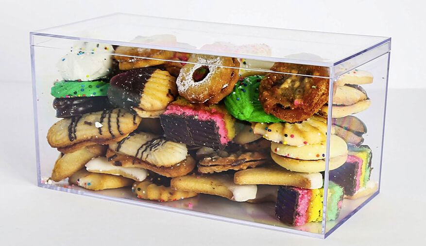 cookies in plastic boxes