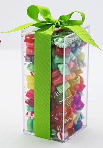 candy in plastic boxes